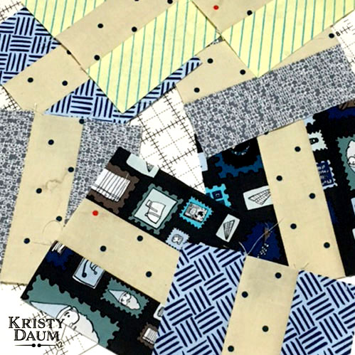 Playing with Paper Obsessed from Windham Fabrics // Kristy Daum        #windhamfabrics  #crimsontate  #heathergivans  #fabric  #railfence  #quiltblocks