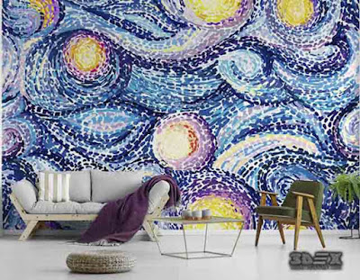 3D wall art murals, 3D wallpaper for living room
