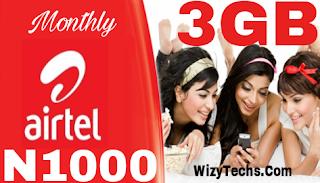 Airtel n1000 for 3gb plan
