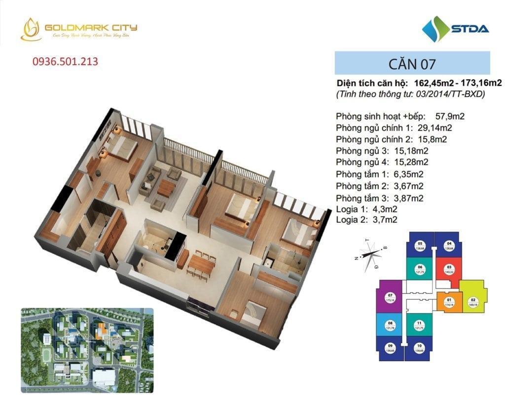 Thiết kế căn hộ 172m2 Ruby 1
