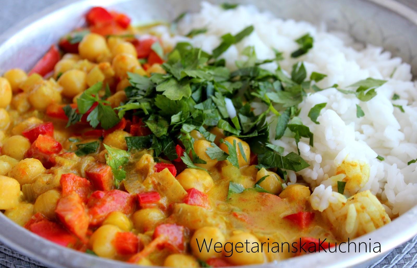 Paprykowe curry z cieciorką