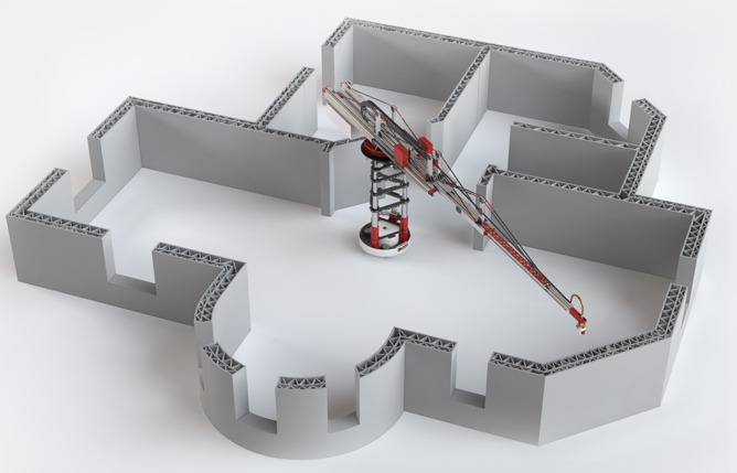 An Example Of In Situ 3D Printing Using A Crane System. (courtesy Of  Apis Cor U2013 Www.apis Cor.com)