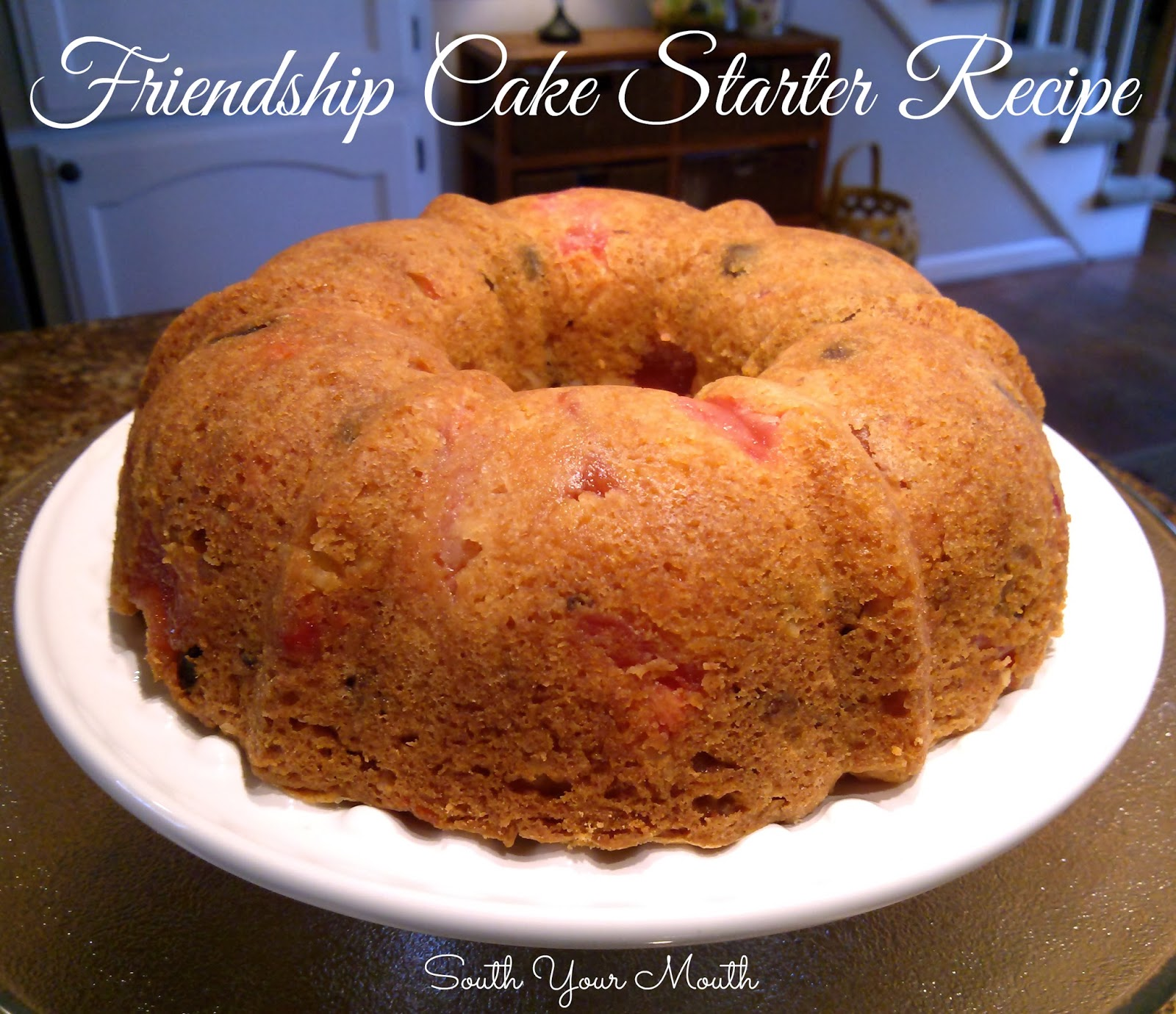 Fermented Fruit Starter Friendship Cake Recipe