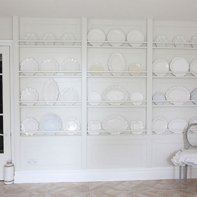 Decorative Plate Wall - so pretty!  Cool Chic Style Fashion}
