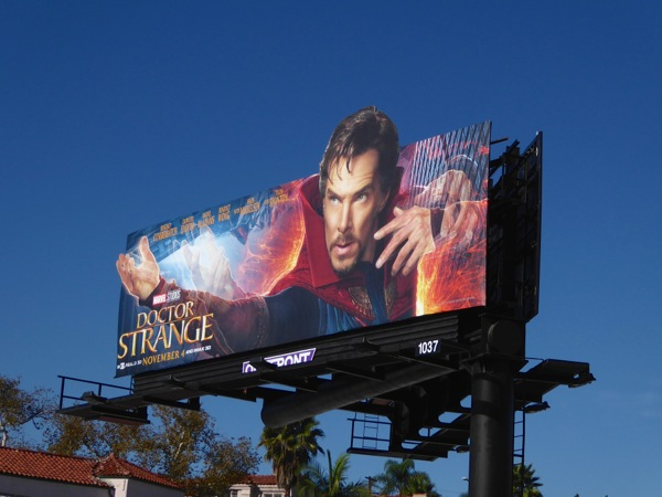 Doctor Strange special extension billboard
