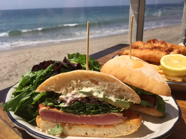 Lunch at Gladstones in Malibu