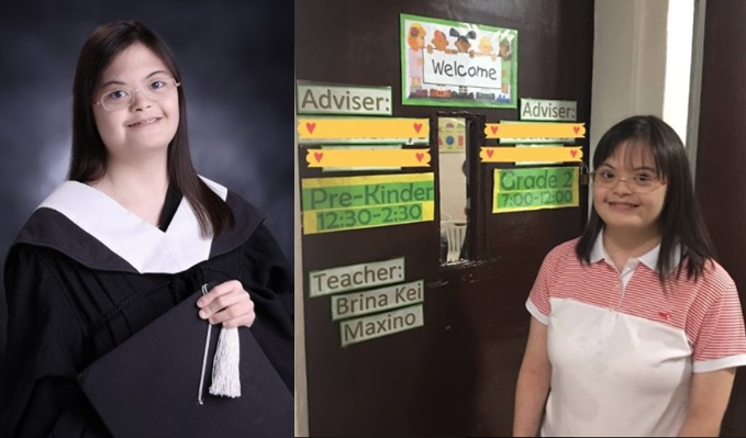 Brina Maxino finished college to pursue her dream of being a teacher