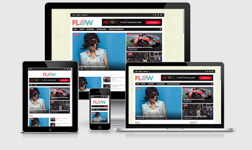 Template Blog Flow Magazine Responsive