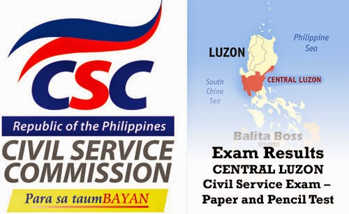 Region 3 - Civil Service Exam Results