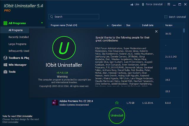 IObit Uninstaller 5.4.0.118 Best Uninstall Tool for Your PC