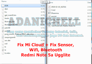 Fix Mi Cloud + Fix Sensor, Wifi, Bluetooth Redmi Note 5a Ugglite
