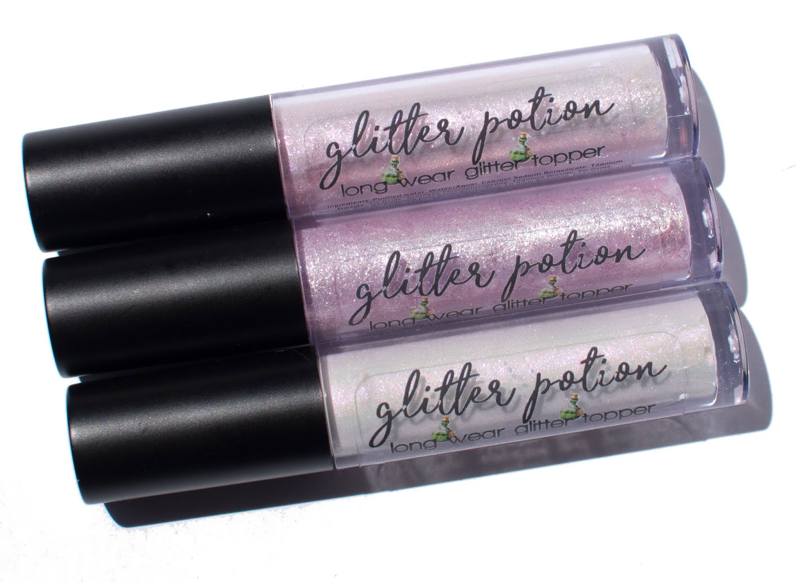 Darling Girl Glitter Potion Lip Toppers in Charmed, Divine, and Ritual