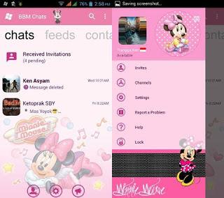 BBM MOD Mickey Mouse versi Terbaru 3.0.1.25 APK