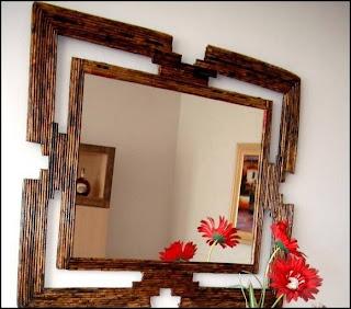 Moldura de Espelho em jornal