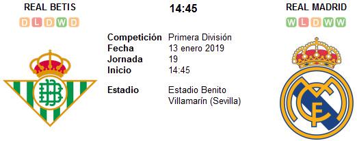 Real Betis vs Real Madrid en VIVO