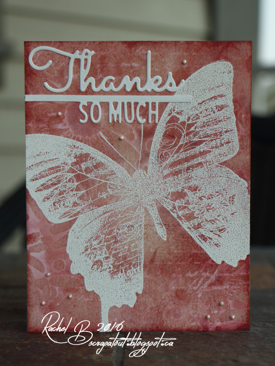 Scrapatout - Hanfmade card, Thanks, Flowers, Butterfly, Cover-A-Card