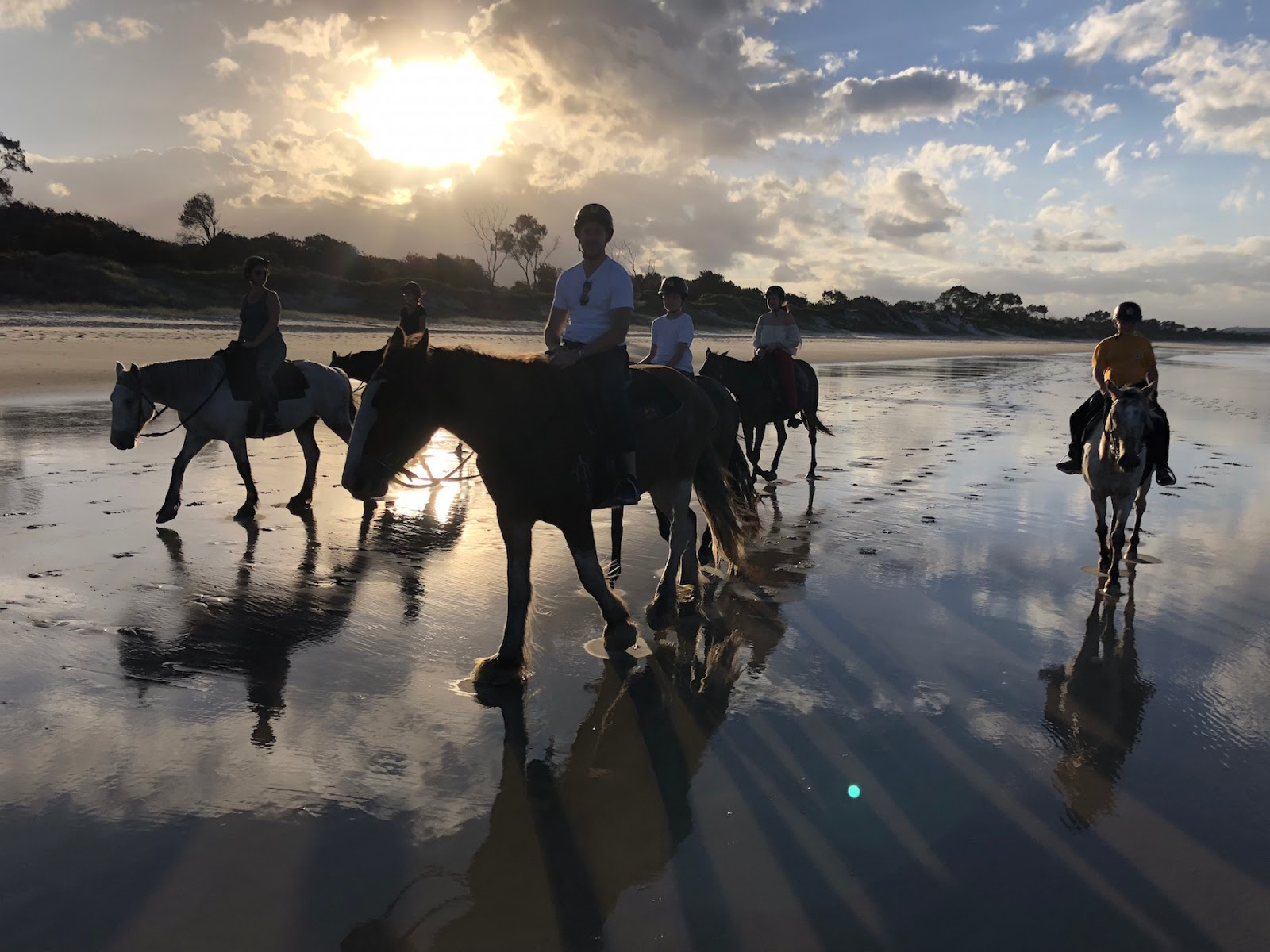 Byron Bay Travel Diary horseback riding zephyr horses