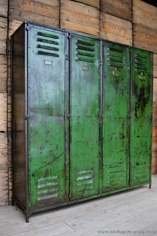 lockers repurposed and industrial on pinterest. Black Bedroom Furniture Sets. Home Design Ideas