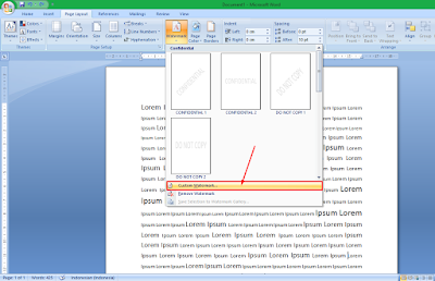 Cara Membuat Background Gambar Tranparan di MS Word 21