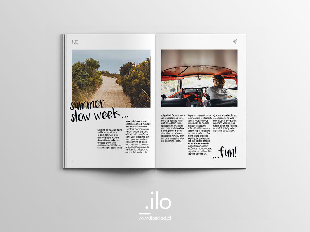 Projekt rozkładówki magazynu internetowego