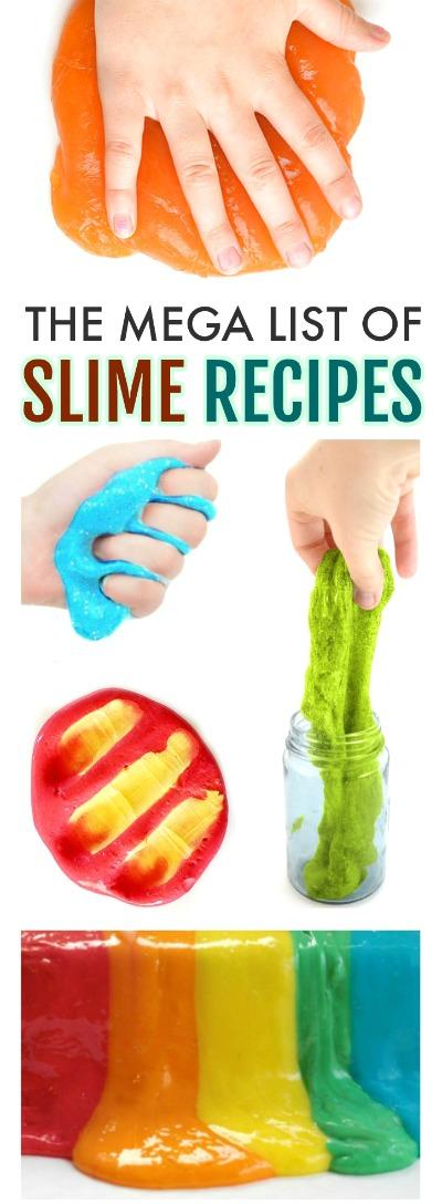 SLIME RECIPES FOR KIDS: over 100 recipes!!!  #slimerecipe #howtomakeslime #slime #slimerecipeeasy #slimewithoutglue #playrecipesforkids #playrecipes #kidscrafts #activitiesforkids #craftsforkids
