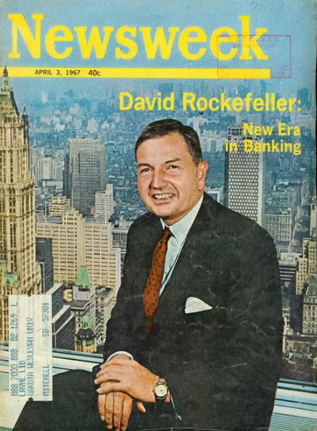 93 119 | David Rockefeller's Newsweek cover from April 3, 1967 (Repost) (Came up in Gematria Debate today)