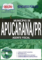 Apostila Prefeitura de Apucarana PR 2017 Agente Fiscal
