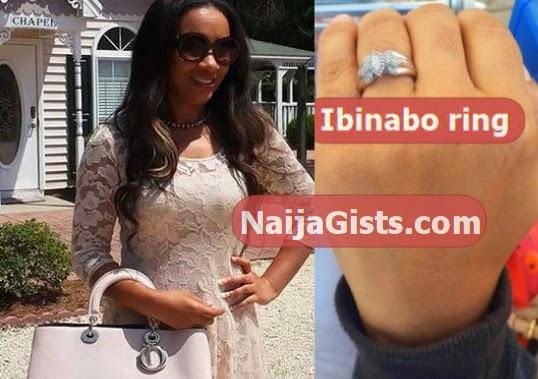 ibinabo fiberesima engagement ring