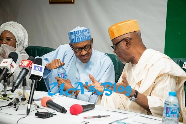 What Buhari, Saraki, Oyegun discussed at APC caucus meeting