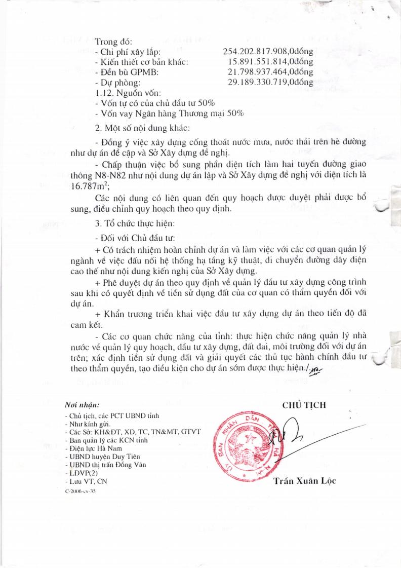 Chấp Thuận Xây Dựng Dự Án Khu Đô Thị Đồng Văn 2