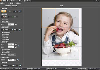 大尺寸海報、文件、圖片專業列印工具,Ronyasoft Poster Printer V3.02.06 繁體中文綠色免安裝版!