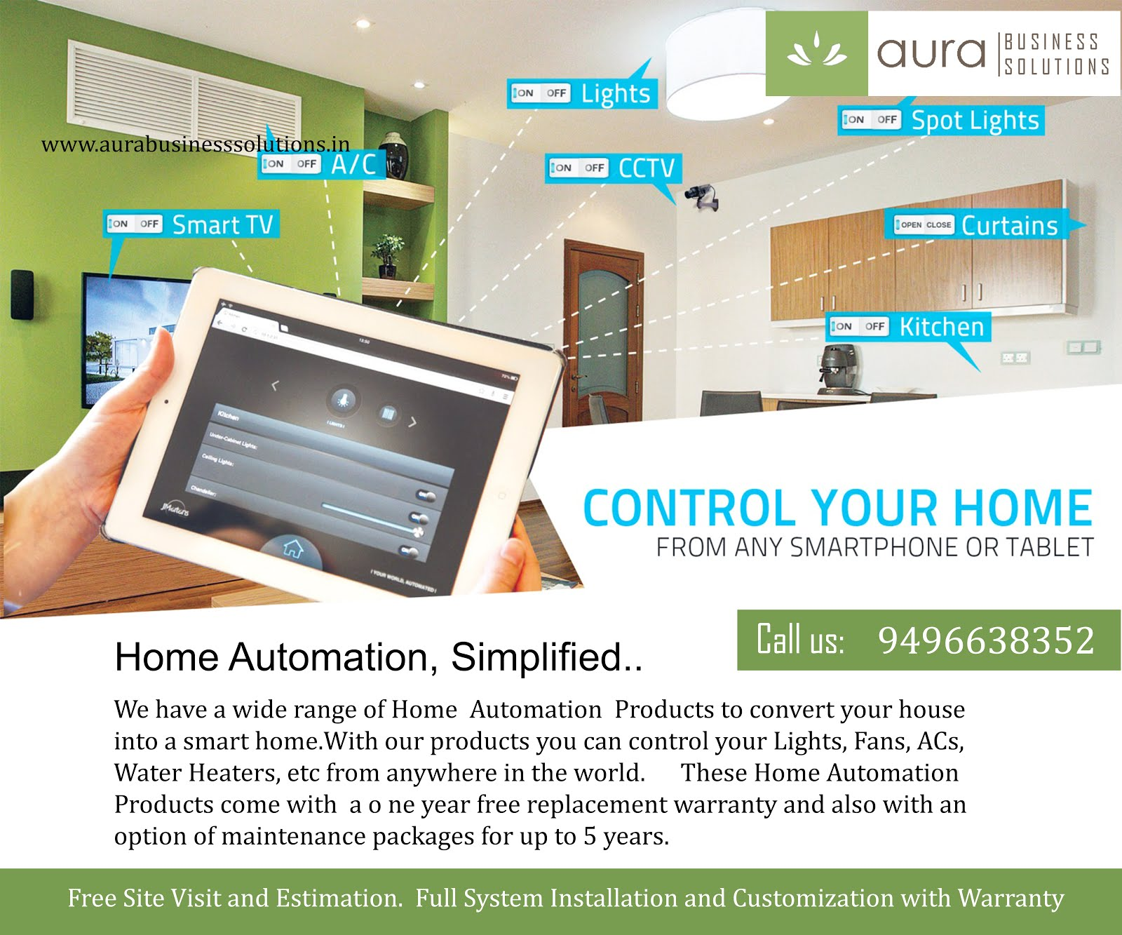 Home Automation in Kerala | AURA - CCTV Camera Security Systems
