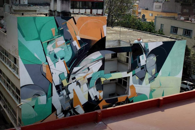 Street Art Mural By Kofie For All CIty Canvas Festival At Impact HUB DF in Mexico City. 1