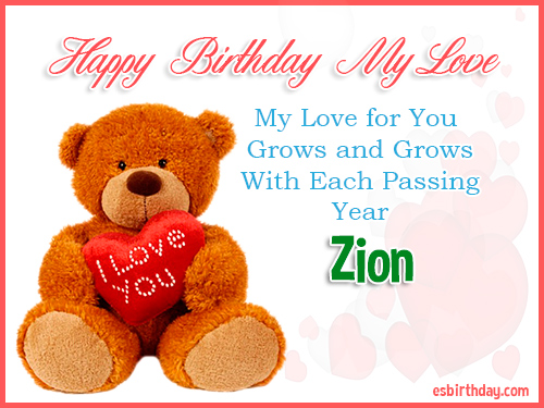 Zion Happy Birthday My Love