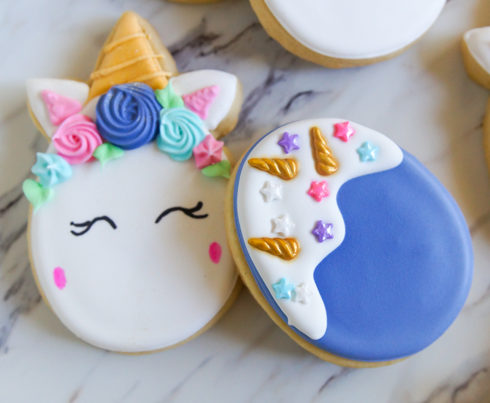 Unicorn Easter Egg Cookies