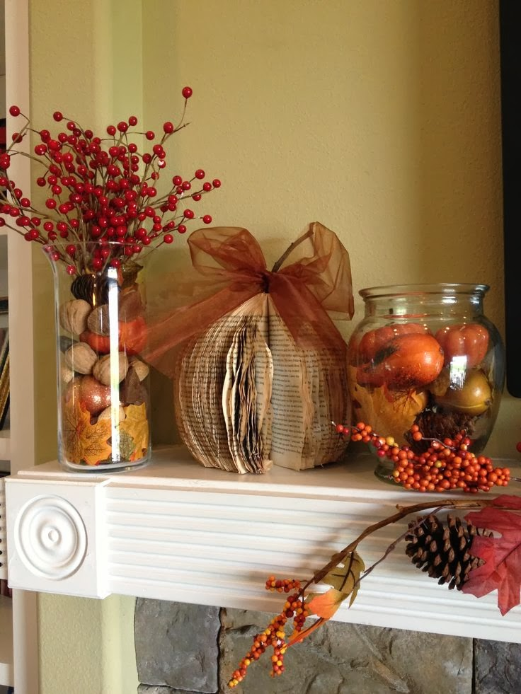 Decorating: Fall Decorating Ideas for Your Mantel - Walking on Sunshine
