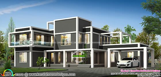 4251 square feet ultra modern home plan with 5 bedrooms
