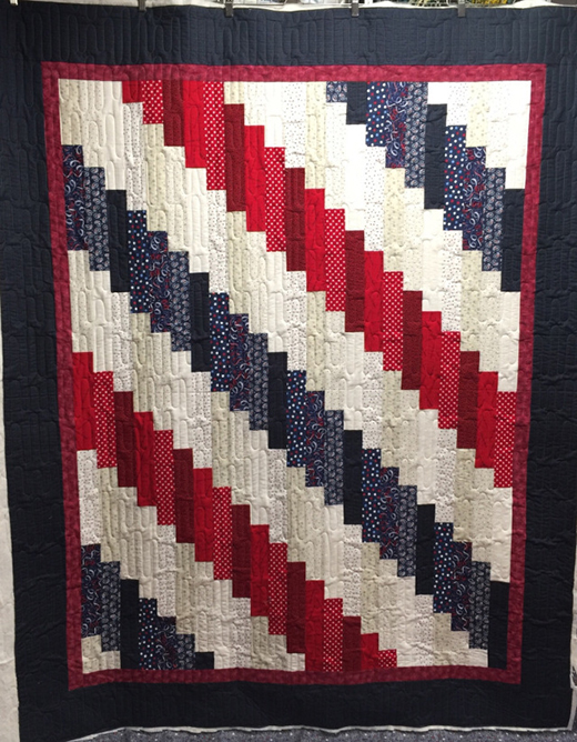 Standing Strong Quilt made by Pat Sloan ,The Pattern designed by Jennifer Bosworth of Shabby Fabrics,