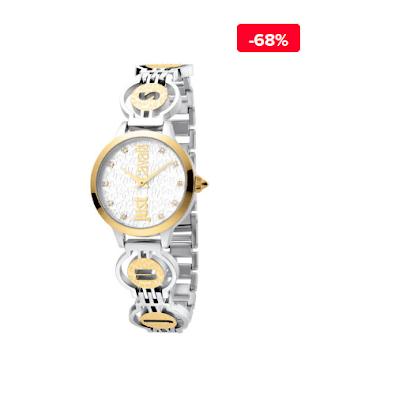 Ceas dama elegant auiru-argintiu Just Cavalli Logo JC1L028M0055 reducere