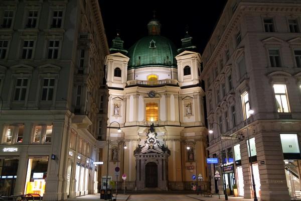 vienne nuit peterskirche graben église saint-pierre