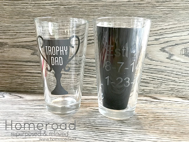glass etching father's day project