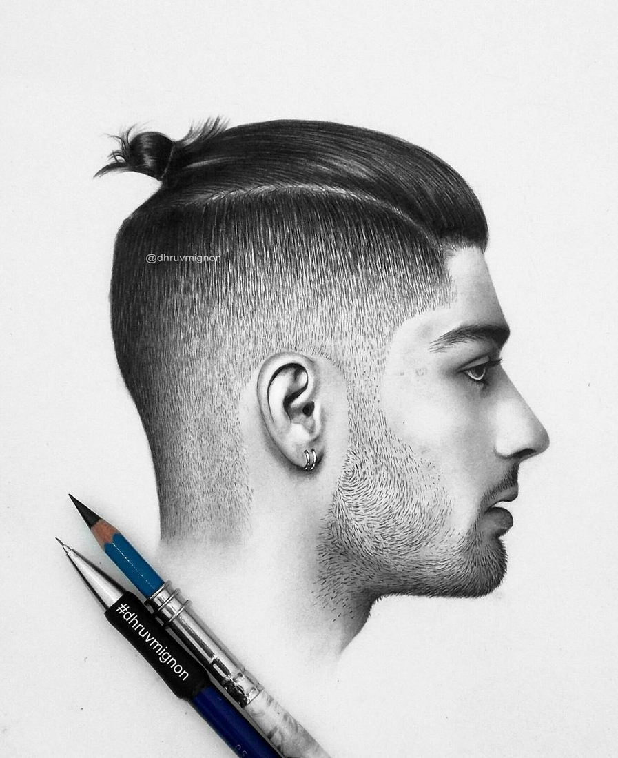 08-Zayn-Malik-dhruvmignon-Celebrity-Miniature-Black-and-White-Pencil-Portraits-www-designstack-co