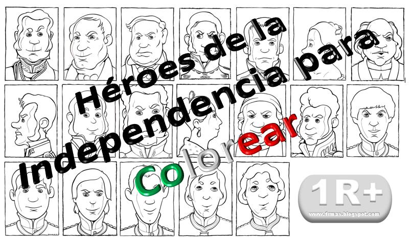 Héroes De La Independencia Para Colorear
