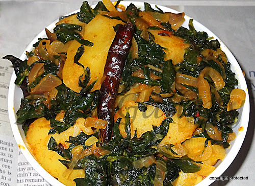 Aloo Methi, Potato Fenugreek Leaves