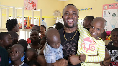 Singer Agoha and friends extend love to motherless babies to mark his birthday (photos)