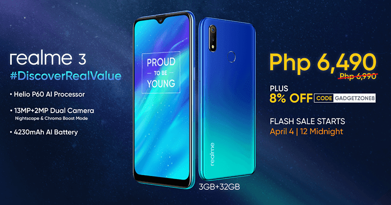 Realme 3 will be even more affordable at Shopee's 4.4 sale!