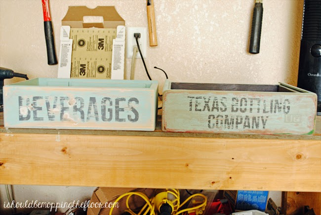 Painting Wooden Soda Crates