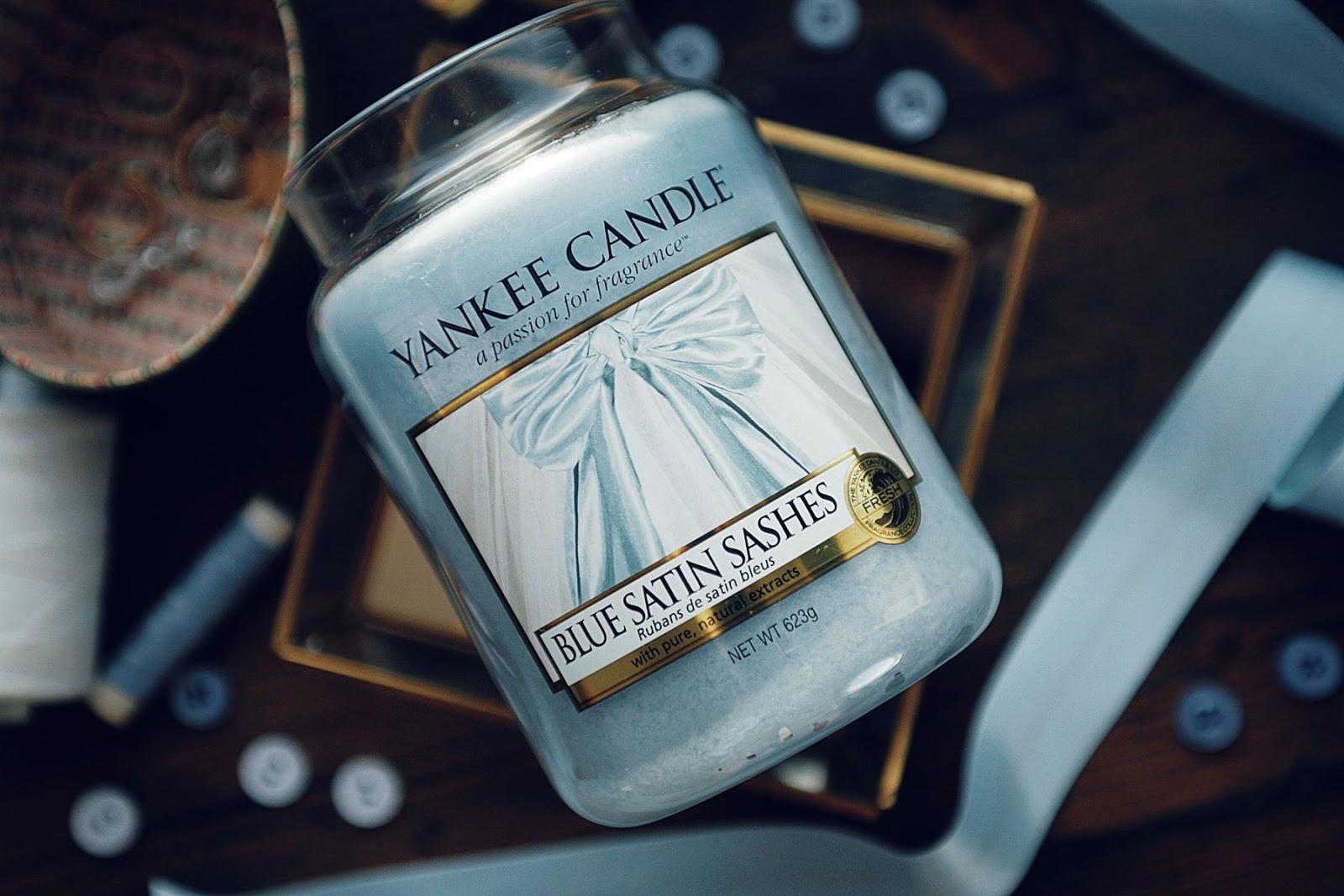 Blue Satin Sashes Yankee Candle Woskomania