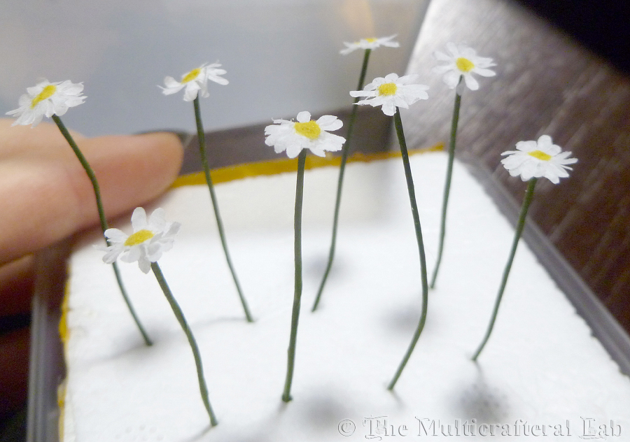 The Multicrafteral Lab Miniature Daisies Chrysanthemums Tutorial