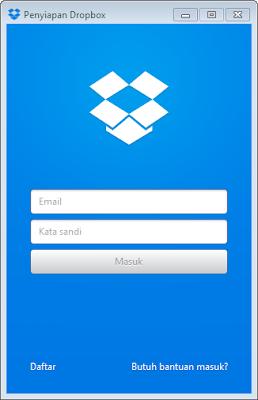 cara instal dropbox